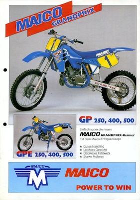 Maico Programm ca. 1987