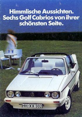 VW Golf 1 Cabriolet Sondermodell Prospekt 6.1984