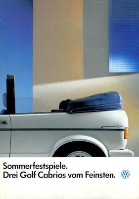 VW Golf 1 Cabriolet Sondermodell Prospekt 1.1986