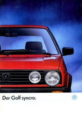 VW Golf 2 Syncro Prospekt 8.1989