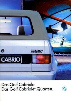 VW Golf 1 Cabriolet Prospekt 1.1993