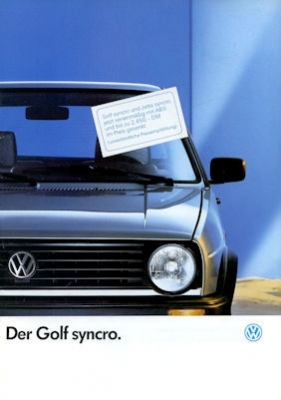 VW Golf 2 Syncro Prospekt 1.1989