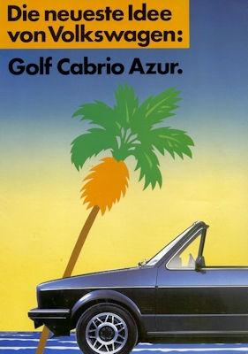 VW Golf 1 Cabriolet Sondermodell Azur Prospekt 1985 0