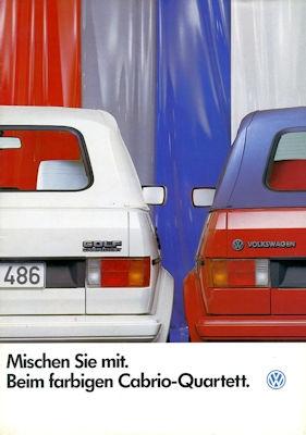 VW Golf 1 Cabriolet Sondermodell Prospekt 7.1986