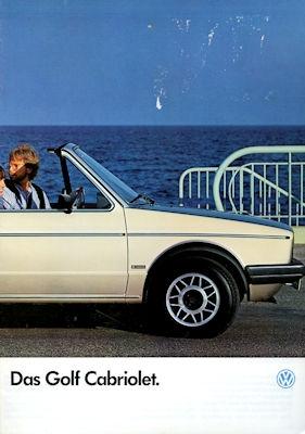 VW Golf 1 Cabriolet Prospekt 8.1985 0