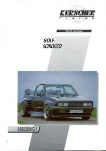 VW / Kerscher Tuning Golf Cabriolet u.a. Prospekt 1980er Jahre