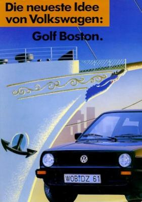 VW Golf 2 Boston Prospekt ca. 1989