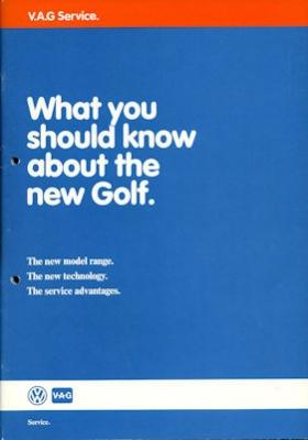 VW Golf 2 Broschüre 6.1983