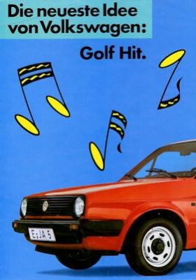 VW Golf 2 Hit Prospekt 1986 0