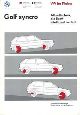 VW Golf 2 Syncro Prospekt 1986