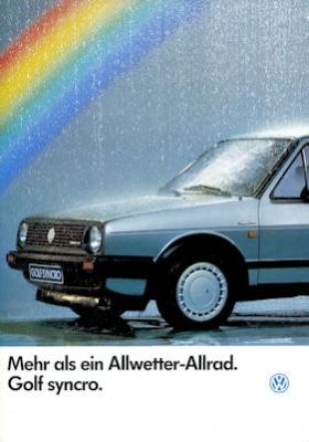 VW Golf 2 Syncro Prospekt 3.1986