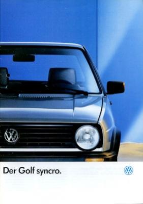 VW Golf 2 Syncro Prospekt 8.1987