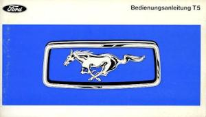 Ford Mustang T 5 Bedienungsanleitung 1968