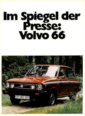 Volvo 66 Mappe mit Pressestimmen 1976