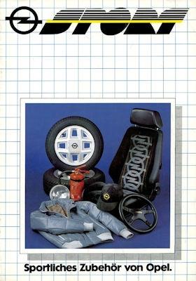 Opel Sportliches Zubehör Prospekt 12.1980 0