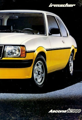 Opel Ascona i 2000 Irmscher Prospekt 10.1979
