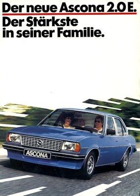Opel Ascona B 2.0 E Prospekt 1.1980