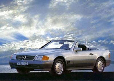 Mercedes-Benz Der neue SL Prospekt 1.1990 1