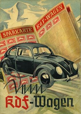 VW KdF-Wagen Prospekt 1939/1980er Jahre Reprint 0