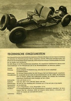VW KdF-Wagen Prospekt 1939/1980er Jahre Reprint 1