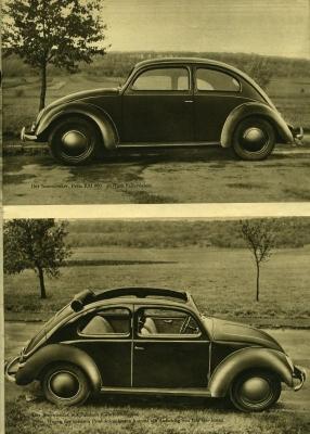 VW KdF-Wagen Prospekt 1939/1980er Jahre Reprint 2