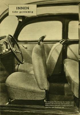 VW KdF-Wagen Prospekt 1939/1980er Jahre Reprint 3