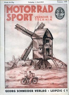 Motorrad Verkehr Sport und Technik 1929 Heft 22