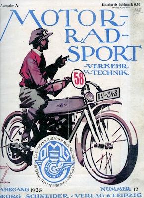 Motorrad Verkehr Sport und Technik 1925 Heft 12