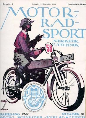 Motorrad Verkehr Sport und Technik 1927 Heft 51