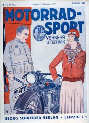 Motorrad Verkehr Sport und Technik 1929 Heft 40 0