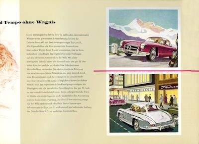 Mercedes-Benz 300 SL Prospekt 1959 Reprint 1