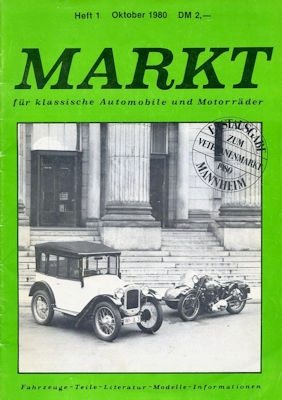 Markt für klassische Automobile und Motorräder Heft 1 Okt. 1980