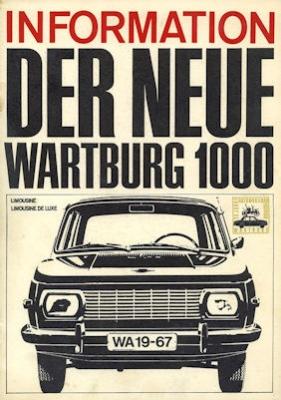 Wartburg 1000 Prospekt 1967