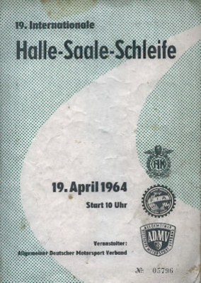 Programm Halle-Saale-Schleife 19.4.1964