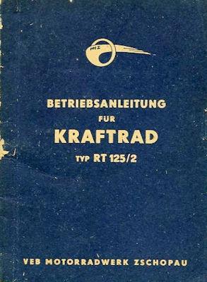MZ RT 125/2 Bedienungsanleitung 1956