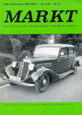 Markt für klassische Automobile und Motorräder Nr. 2 Nov. 1980