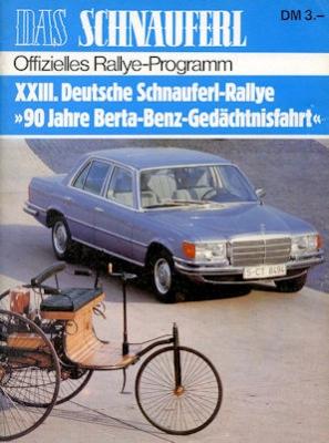 Schnauferl Rallye Programm 4.-6.8.1978