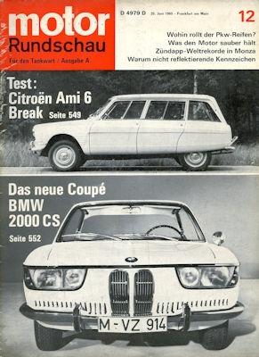 Motor Rundschau 1965 Heft 12