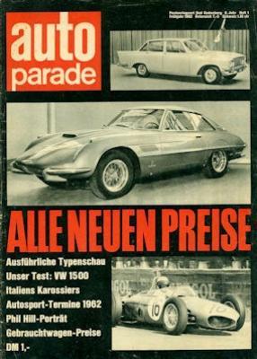 Auto Parade 1962 Heft 1