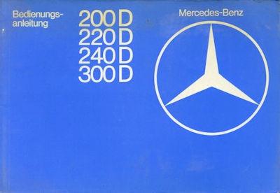 Mercedes-Benz 200D-300D Bedienungsanleitung 2.1977