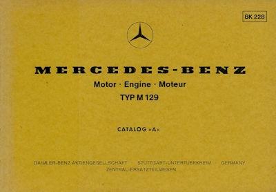 Mercedes-Benz M 129 6Zylinder Ersatzteilliste (1965-1968) 3.1978