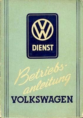 VW Käfer Bedienungsanleitung 9.1951