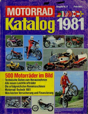 Motorrad Katalog 1981