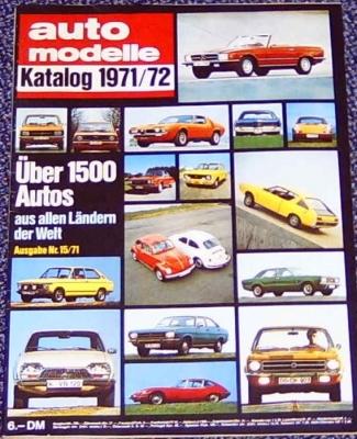 Auto Modelle 1971/72 Nr.15