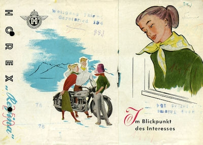 Horex Regina 250 Prospekt ca. 1953