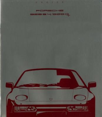 Porsche 928 S2 / GT Preisliste 8.1989