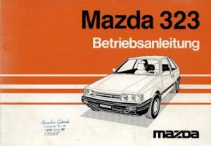 Mazda 323 Bedienungsanleitung 1985