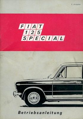 Fiat 125 Spezial Bedienungsanleitung 1969