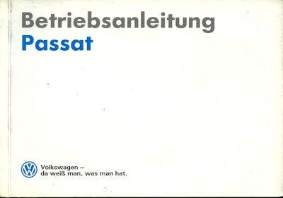 VW Passat Bedienungsanleitung 1990