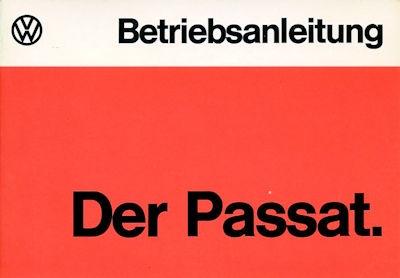 VW Passat Bedienungsanleitung 8.1974